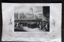 Tyrrell 1858 Crimea Print. Departure of the Grenadier Guards, Trafalgar Square